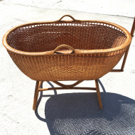 rattan wicker bassinet franzo1