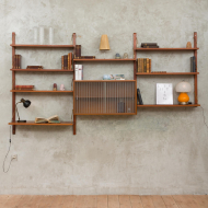 Royal System wall unit Cadovius with glass cabinet-1