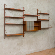 Royal System wall unit Cadovius with glass cabinet-5