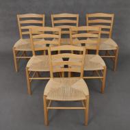 Set of 6 Kaare klint  -Church -chairs-1