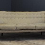 sofa nerka bezowa lata 60-te skandynawia broderna