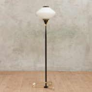 stilnovo three-leged black and brass standing lamp-1