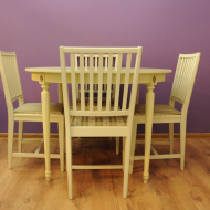 stol bialy krzesla skandynawski design danish