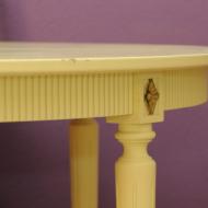 stol bialy krzesla skandynawski design danish 45tr