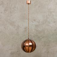 Svend Age Holm Sorensen copper brutalist lamp-1