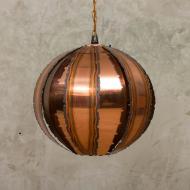 Svend Age Holm Sorensen copper brutalist lamp-2
