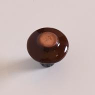 świecznik ceramiczny brązowy niebieski (4)