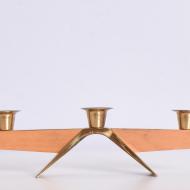 świecznik drewno złoty metal (5)