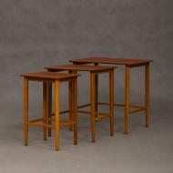 Teak nesting tables from 70s, Denmark-2