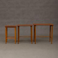 Teak nesting tables from 70s, Denmark-5