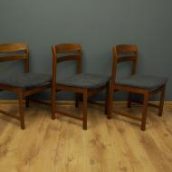 trzy tekowe dunskie krzesla lata 60 maleko c