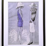 v ilustracja mody