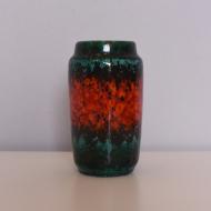 wazon west germany nieduży czerwony zieliony  (1)