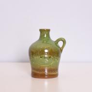 wazon zielony ceramiczny szkliwiony z uchem ddr (1)
