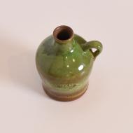 wazon zielony ceramiczny szkliwiony z uchem ddr (4)