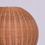 Wiklinowa lampa stołowa, lata 80. kula (6)