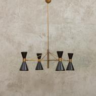 włoska lampa wisząca stilnovo 4 klosze-1