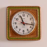 zegar ceramiczny brązowo zielony kwadratowy (1)