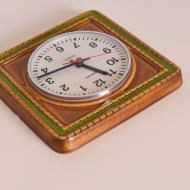 zegar ceramiczny brązowo zielony kwadratowy (4)