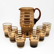 zesatw do napojów brąz złoto (2)