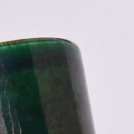 zielona butelkowa doniczka osłonka lata 70 (3)