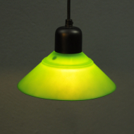 zielona lampa sufit skandynawia