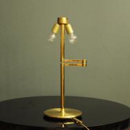 zlota lampa biurkowa rozkladana
