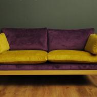 zolto fioletowa sofa rattan a